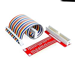 CHENBO(TM)For Raspberry Pi model B plus T cobbler, expansion DIY kit (40Pin GPIO cable + GPIO T-adapter plate)