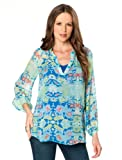 A Pea in the Pod Collection: Ella Moss Long Sleeve Paisley Print Maternity Blouse