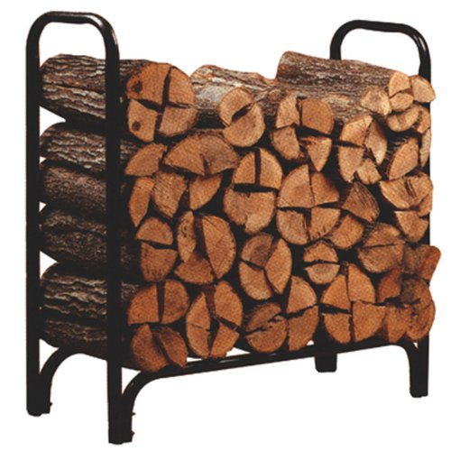 Panacea 15203 Deluxe Outdoor Log Rack, Black, 4-Feet photo