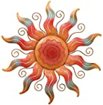 "Sun Wall Decor 22"" , Material; Metal"