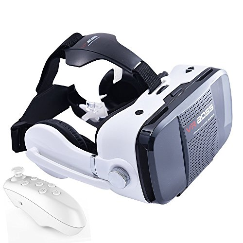 BOSS VR Mobile 3D Virtual Reality Glasses Comes with Stereo Headphones and Microphone VR Glasses with Controller