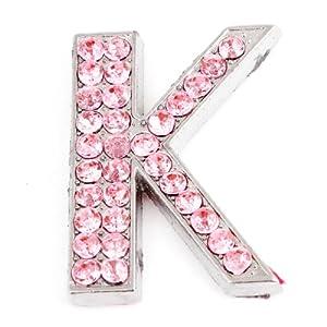 K Letter Images In Pink Amazon.com: Bling Rhinestones Decor Pink Letter K Shaped Car Sticker ...