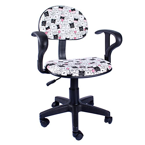 Emall Life Swivel Mid-back Fabric Ergonomic Office Chair with Armrests (EM0020-30) (Girls Gaming Chair compare prices)