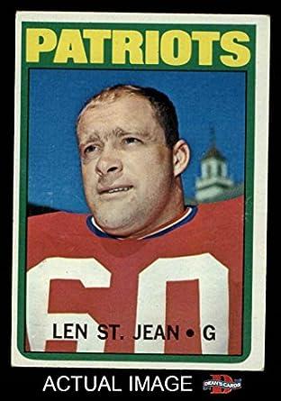 1972 Topps # 23 Len St. Jean New England Patriots (Football Card) Dean