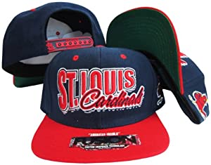St. Louis Cardinals Navy Red Fusion Angler Snapback Hat Cap by American Needle