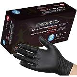 Dynarex Black Latex Exam Gloves, Powder-Free, Small, Box/100