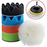 Alcoa Prime Best Promotion 6pcs 3 Inch Sponge Polishing Waxing Buffing Pads Set For Compound Auto Car + Drill...