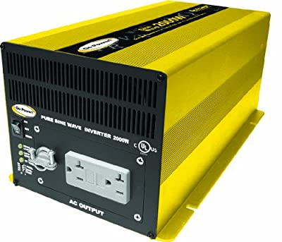 Go Power! GP-SW2000-12 2000W Pure Sine Wave Inverter, 12V