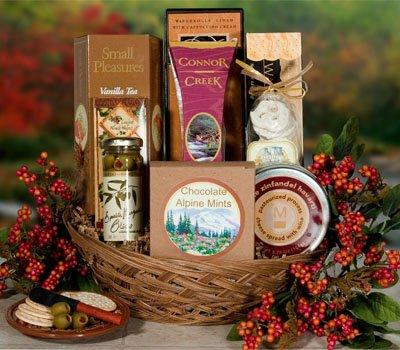 Blooming Assotment Gourmet Food Gift Basket (Gourmet,The Treasured Basket,Gourmet Food,Snack Food)