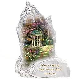 Thomas Kinkade Garden Of Hope Crystalline Praying Hands Sculpture With Poem Card by The Bradford Exchange