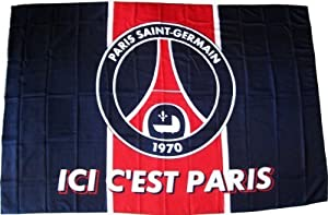 PARIS SAINT GERMAIN - Drapeau PSG - Collection officielle - Football Supporter - Ici c'est Paris - Football - Ligue 1