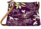 Snoogg birds and bird cages seamless pattern Womens Carry Around Sling Bags