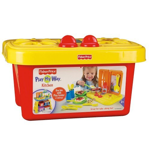 Fisher-Price Role Play Center Kitchen Bin front-96996