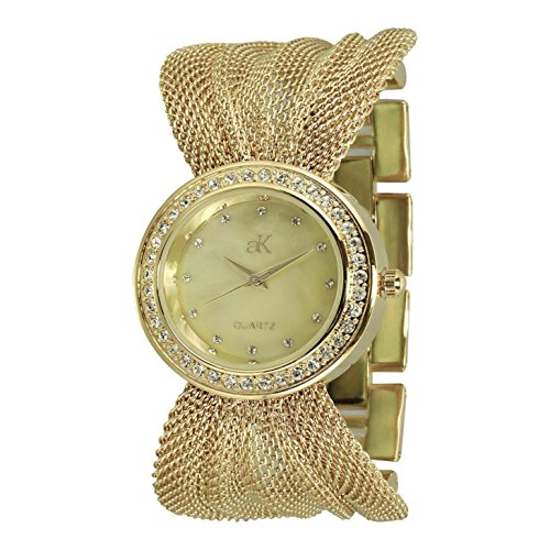 Adee Kaye Fame ak20-LG 32.5mm Brass Case Brass Mineral Women's Watch