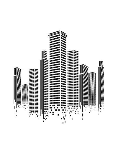 Ambiance Live Vinile Decorativo Giant Wall Sticker City Squares Design