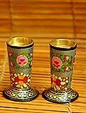 The India Craft House Papier Mache Kashmiri Art Candle Stands - 4