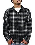 (リアルコンテンツ)REAL CONTENTS チェック シャツ メンズ オンブレチェックシャツ 長袖 大きいサイズ トップス カットソー rc7358 (M, BLACK)