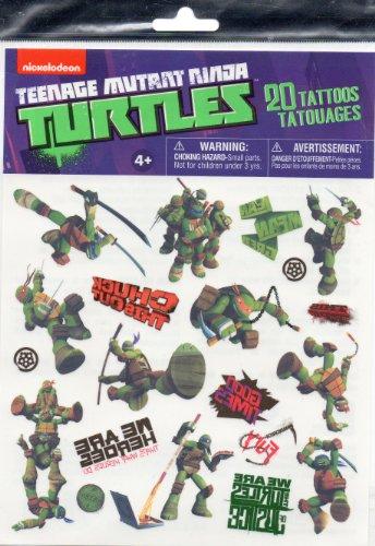 Teenage Mutant Ninja Turtles 20 Tattoos Party Favors (Leonardo, Michelangelo, Donatello, Raphael) TMNT