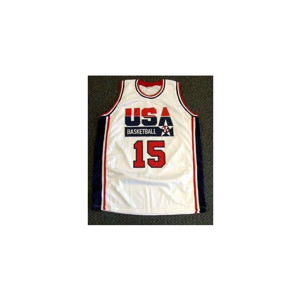 cbd30ebb92d Signed Magic Johnson Uniform White Team USA Dream Team PSA DNA Autographed  NBA Jerseys