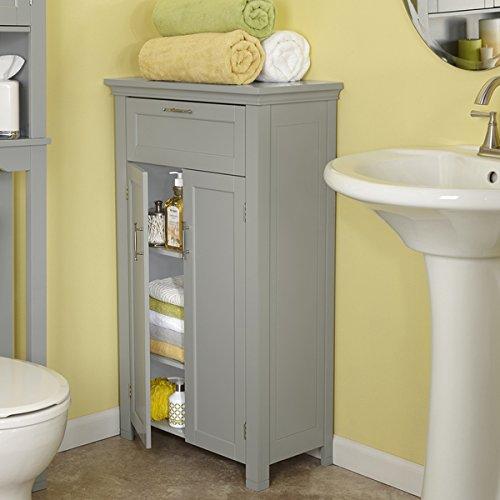 RiverRidge Somerset Collection Grey MDF 2-door Floor Cabinet