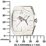PUMA Women's PU910572006 Track White Dial Watch
