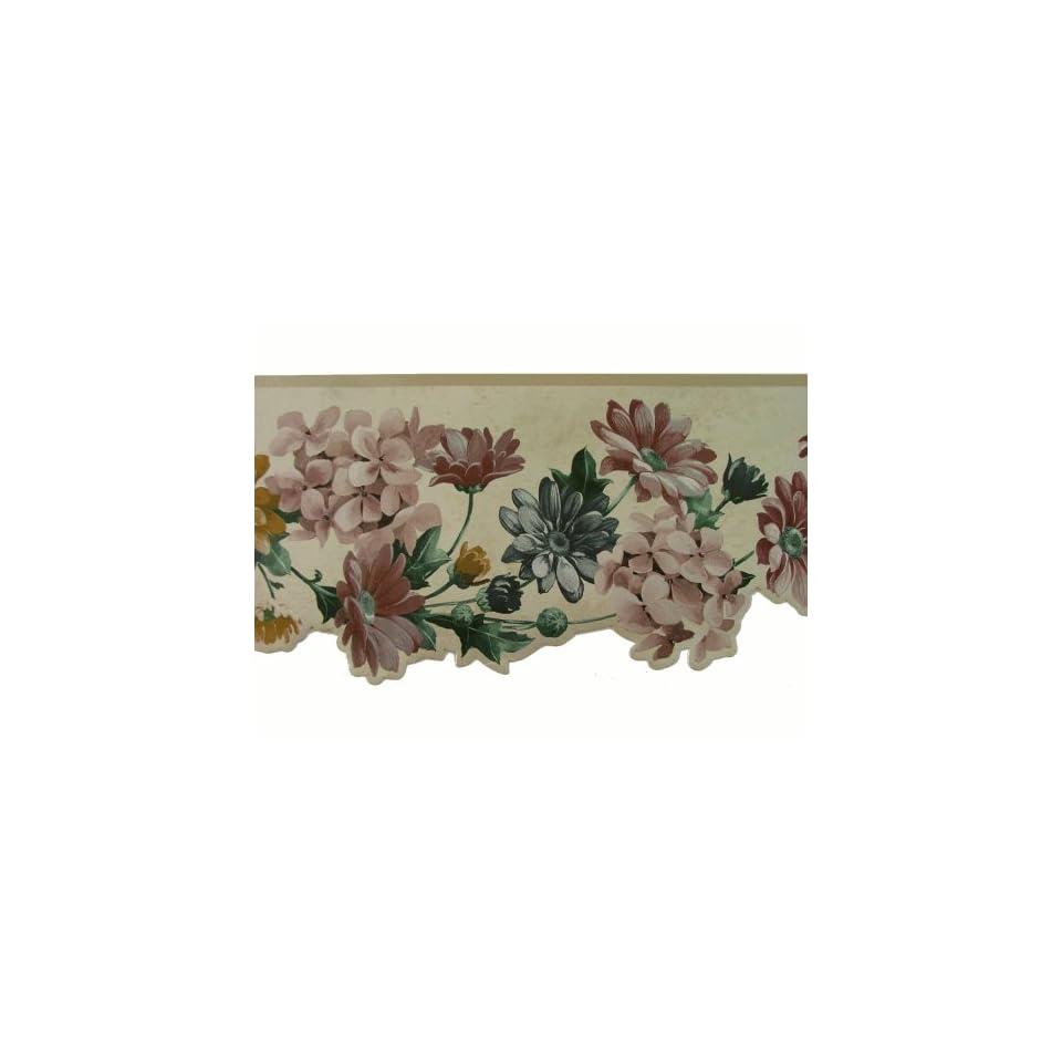 Norwall Die Cut Floral Wallpaper Border Pattern Number