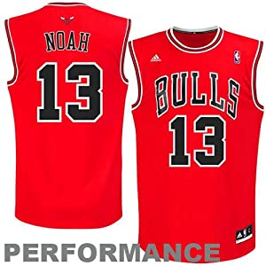 NBA adidas Joakim Noah Chicago Bulls Youth Revolution 30 Performance Jersey - Red (Large)
