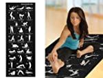New Back Black 28 Poses Yoga Mat