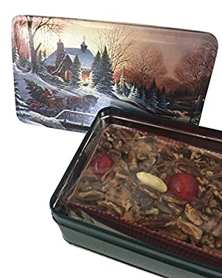 Grandma's Famous Fruit and Nut Cake 1 Pound in Holiday Tin from BEATRICE BAKERY
