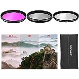 Neewer 3pcs 49mm UV + CPL + FLD Lens Filter Kit with case for Digital DSLR cameras