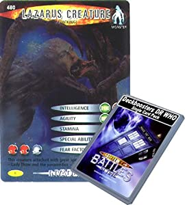 Doctor Who - Deckboosters Single Card : Invader 105 (480) Lazarus Creature (Attacking) Dr Who Battles in Time Rare Card
