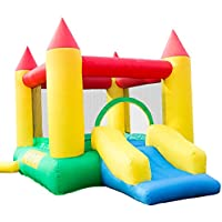 Hey! Play! Inflatable Castle Bounce House with Slide