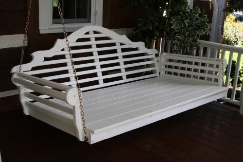 Outdoor 6' Marlboro Swing Bed - Oversized Porch Swing - Painted- Amish Made Usa -Canary Yellow
