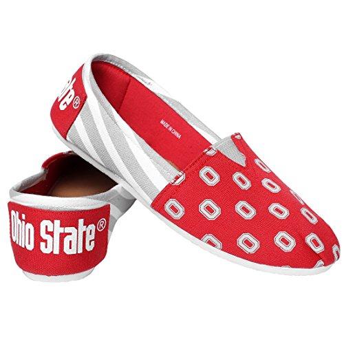 NCAA Ohio State Buckeyes Canvas Shoes