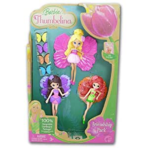 Barbie Thumbelina Dolls Friendship Pack - Set of 3: Amazon ...