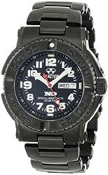 REACTOR Men's 59501 Trident Never Dark Stainless Steel Watch