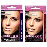Combo Pack! 1000 Hour Eyelash & Brow Dye / Tint Kit Permanent Mascara (Blue Black & Dark Brown)
