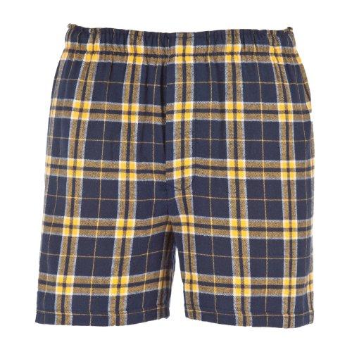 Boxercraft Herren Flanell-Boxer-Shorts / Boxer-Shorts (Xlarge) (Marineblau/Goldfarben)