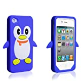 "Apple iPhone 4 Tasche Silikon Pinguin H�lle Blauvon ""Yousave Accessories�"""