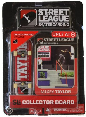 Street League Skateboarding Fingerboard - Sean Malto - White Letters Over Red Background with White Tail