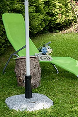 Sonnenschirmständer Schirmständer Beton 25 kg grau meliert Granitoptik von Nexos Trading auf Gartenmöbel von Du und Dein Garten