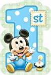 Baby Mickey Mouse 1st Birthday Invita…