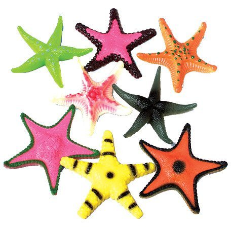 Dozen Plastic Multicolor Starfish Assortment
