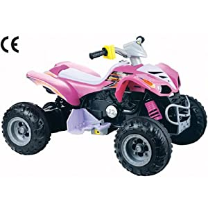 12v Mega Electric Ride On Kids Quad Bike In Pink - Ages 3+ Years