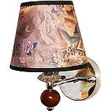 Al Noor Metal & Cloth Wall Light (Multicolor)