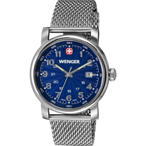 Wenger Urban Classic Blue Dial With Stainless Steel Mesh Bracelet 59-4032