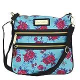 Betsey Johnson Crossbody Bag Handbag Floral Turquoise