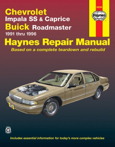 Chevrolet Impala Ss And Caprice, Buick Roadmaster 1991-1996 (Haynes Manuals) front-373348