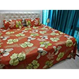 JMT(100% Heavy Stuff Pure Cotton Double Bedsheet With 2 Pillow Cover,size -230x250 Cms, Pillow - 69x46 Cms) - B074D3LCBS