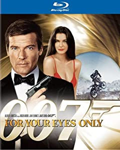 "Roger Moore makes a fifth appearance as James Bond in this film ""For Your Eyes Only."""